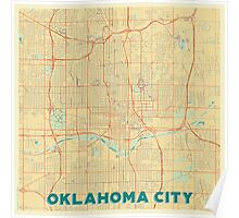 Oklahoma City Map Retro Poster