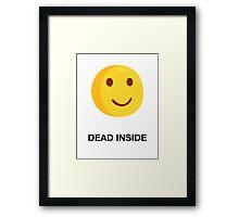 DEAD INSIDE Framed Print