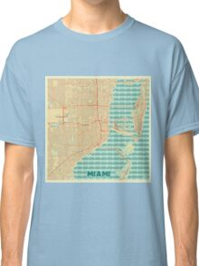 Miami Map Retro Classic T-Shirt