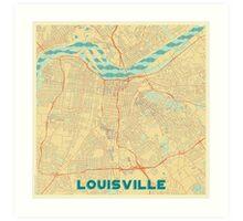 Louisville Map Retro Art Print