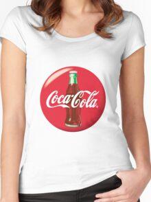 Coke Logo Women's Fitted Scoop T-Shirt