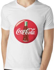 Coke Logo Mens V-Neck T-Shirt