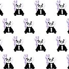 Panda Girl - Purple (Pattern) by Adamzworld