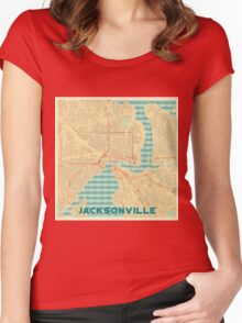 Jacksonville Map Retro Women's Fitted Scoop T-Shirt