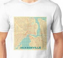 Jacksonville Map Retro Unisex T-Shirt