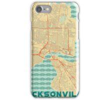 Jacksonville Map Retro iPhone Case/Skin