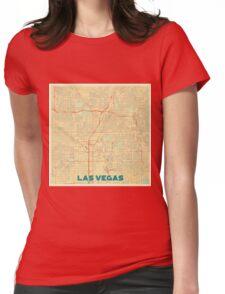 Las Vegas Map Retro Womens Fitted T-Shirt