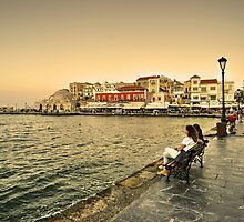 Chania Waterfront  by Rob Hawkins