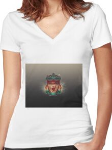 liverpool logo Women's Fitted V-Neck T-Shirt