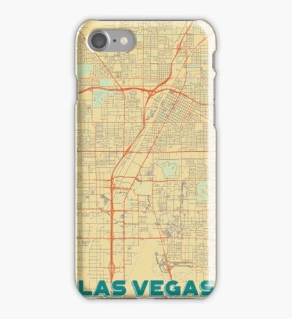 Las Vegas Map Retro iPhone Case/Skin
