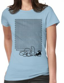 Unravel (in Blue) Womens Fitted T-Shirt