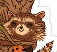 Groot + Raccoon Sticker