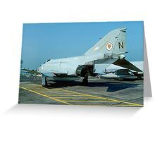 McDonnell F-4J(UK) Phantom F.3 ZE357/N Greeting Card