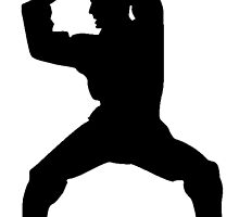 Martial Artist Silhouette by kwg2200