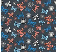 Seamless pattern with butterflies  Photographic Print