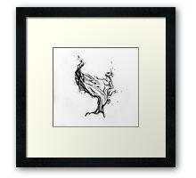 Water splash drawing Framed Print