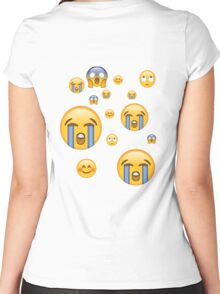 Emoji Women's Fitted Scoop T-Shirt