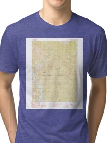 USGS TOPO Map California CA Bollibokka Mountain 299979 1990 24000 geo Tri-blend T-Shirt