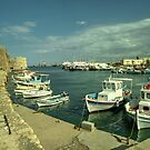 Heraklion old harbour  by Rob Hawkins