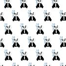 Panda Girl - Blue (Pattern) by Adamzworld