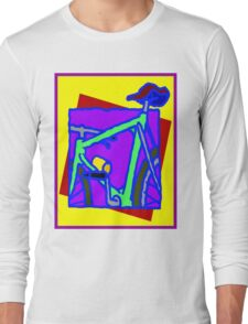 BICYCLE ABSTRACT; Whimsical Print Long Sleeve T-Shirt