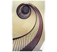 Spiral stairs in browns Poster