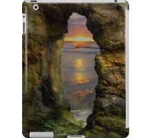 Perranporth Keyhole Sunset, Cornwall, UK ~ Atlantic Coast iPad Case/Skin