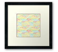 Abstract doodle wavy scale texture Framed Print