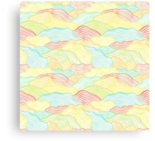 Abstract doodle wavy scale texture Canvas Print