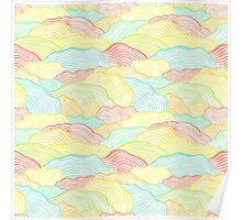 Abstract doodle wavy scale texture Poster