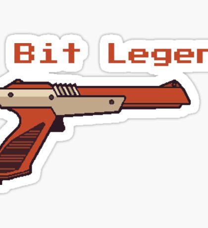 8 bit legend gun Sticker