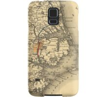 Vintage Map of The North Carolina Coast (1887) Samsung Galaxy Case/Skin
