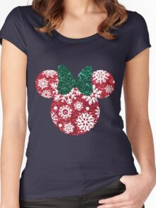 Christmas Silhouette  Women's Fitted Scoop T-Shirt
