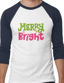 Merry and Bright Men's Baseball ¾ T-Shirt
