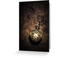 Ornamented pocket watch Greeting Card