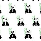 Panda Girl - Green (Pattern) by Adamzworld