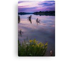 Twilight Time on Lake Canvas Print