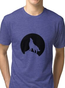 Wolf and Moon Tri-blend T-Shirt