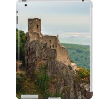 Majestic medieval castle Girsberg ruins on the top of the hill, Alsace, France iPad Case/Skin