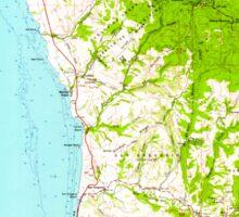 USGS TOPO Map California CA Half Moon Bay 297626 1961 62500 geo Sticker