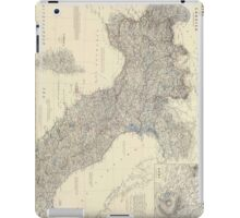 Vintage Map of Northern Italy (1861) iPad Case/Skin