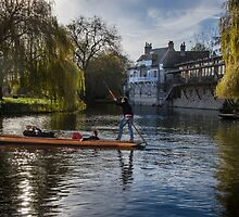 Punt on the River Cam by Sue Martin
