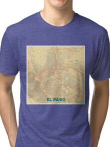 El Paso Map Retro Tri-blend T-Shirt