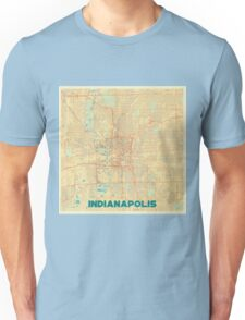 Indianapolis Map Retro Unisex T-Shirt