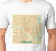 Dallas Map Retro Unisex T-Shirt
