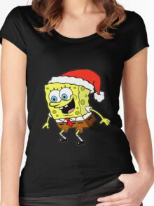 Spongebob Christmas Women's Fitted Scoop T-Shirt