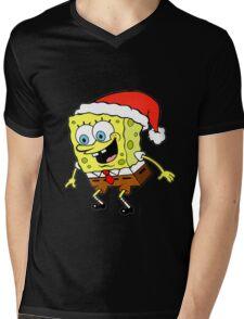 Spongebob Christmas Mens V-Neck T-Shirt