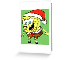 Spongebob Christmas Greeting Card
