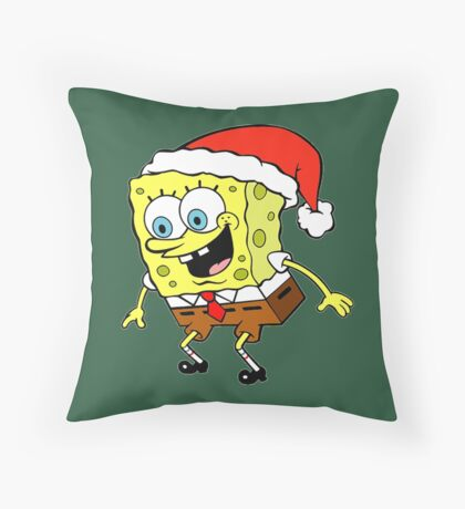 Spongebob Christmas Throw Pillow