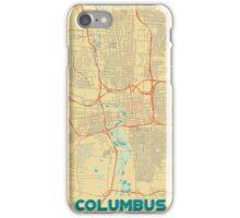 Columbus Map Retro iPhone Case/Skin